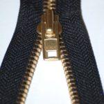 Black brass zip