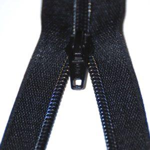 Black thin zip